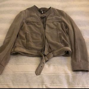 Free People soft Moto jacket size L
